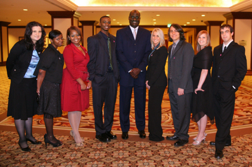 Michael Cooper and Scholarship Recipients