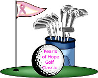 gold clubs, tee flag, gold ball illustration
