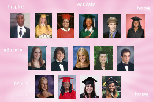 Photo of some of Pearls of Hope Scholarship Recipients over the years